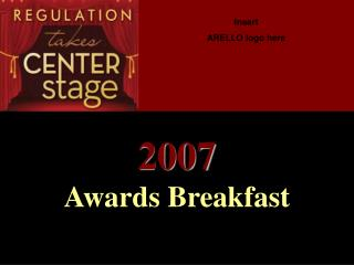 2007 Awards Breakfast