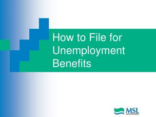 How to File for Unemployment Benefits