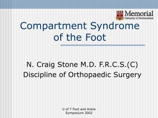 Compartment Syndrome of the Foot