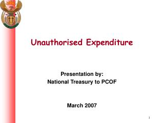Unauthorised Expenditure