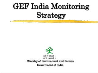GEF India Monitoring Strategy