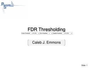 FDR Thresholding