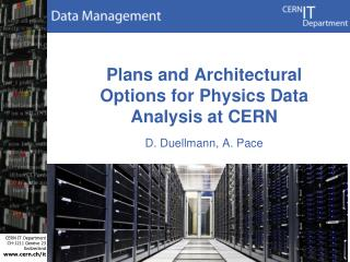 Plans and Architectural Options for Physics Data Analysis at CERN