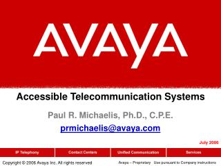Accessible Telecommunication Systems