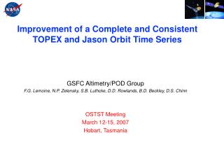 Improvement of a Complete and Consistent TOPEX and Jason Orbit Time Series