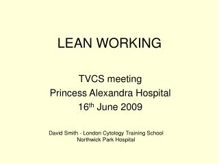 LEAN WORKING