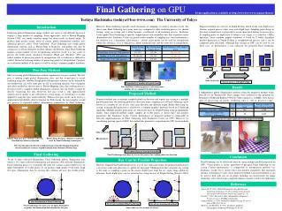 Final Gathering on GPU