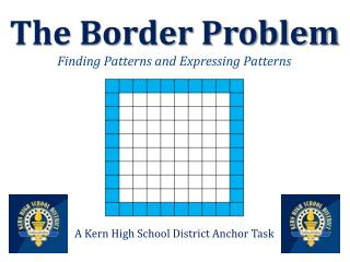 The Border Problem Finding Patterns and Expressing Patterns