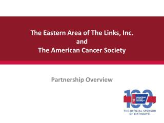 Ppt american cancer society relay for life powerpoint the eastern area of the links inc and the american cancer society toneelgroepblik Gallery