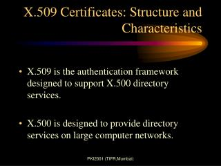 X.509 Certificates: Structure and Characteristics