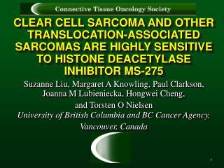 Suzanne Liu, Margaret A Knowling, Paul Clarkson, Joanna M Lubieniecka, Hongwei Cheng,