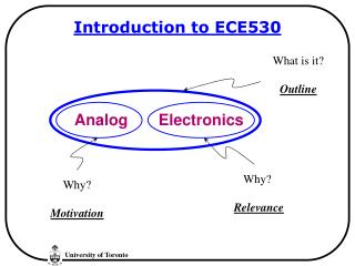 Introduction to ECE530