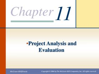 Project Analysis and Evaluation