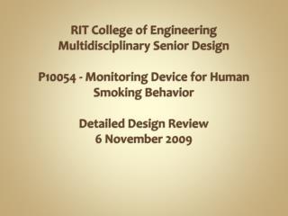 RIT Engineering Multidisciplinary Senior Design