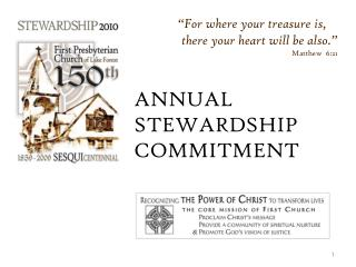 ANNUAL STEWARDSHIP COMMITMENT