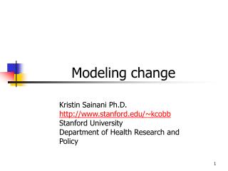Modeling change