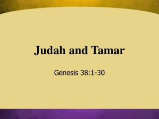 Judah and Tamar