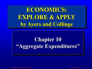 "Chapter 10 ""Aggregate Expenditures"""