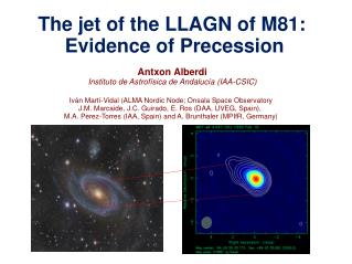 The jet of the LLAGN of M81: Evidence of Precession