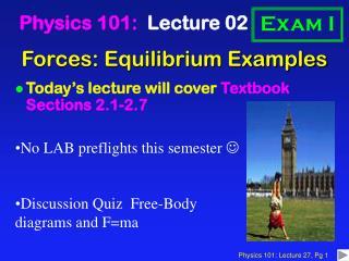 Forces: Equilibrium Examples