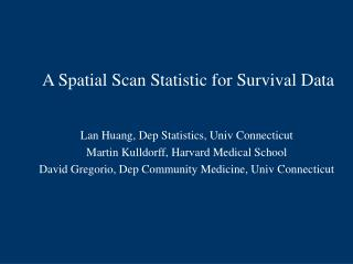A Spatial Scan Statistic for Survival Data