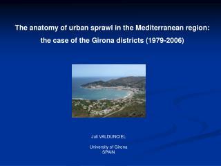 The anatomy of urban sprawl in the Mediterranean region: