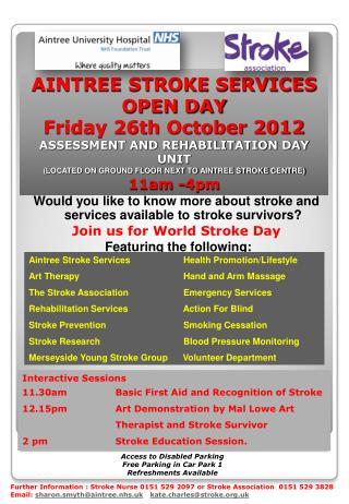 Would you like to know more about stroke and services available to stroke survivors?