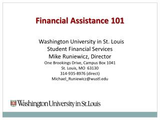 Financial Assistance 101