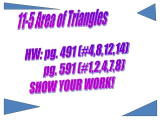 11-5 Area of Triangles
