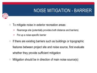 NOISE MITIGATION - BARRIER