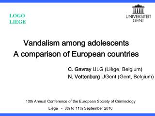 Vandalism among adolescents A comparison of European countries