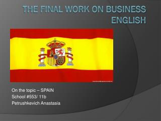 THE FINAL WORK ON BUSINESS ENGLISH