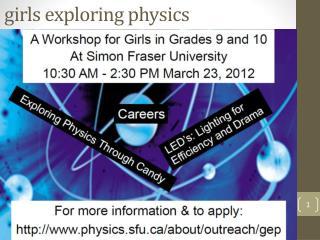 girls exploring physics