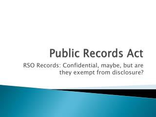 Public Records Act
