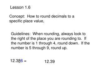 Lesson 1.6