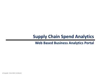 Supply Chain Spend Analytics
