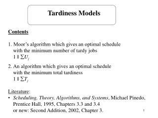 Tardiness Models