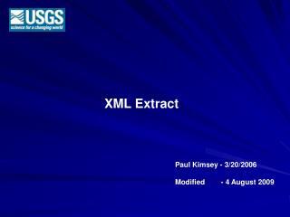 XML Extract