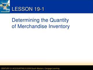 LESSON 19-1