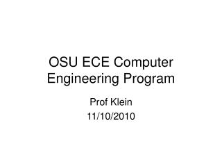OSU ECE Computer Engineering Program