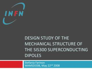 Design study of the mechanical structure OF the SIS300 superconducting dipoles