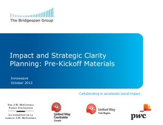Impact and Strategic Clarity Planning: Pre-Kickoff Materials