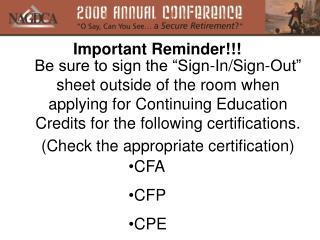 CFA CFP CPE