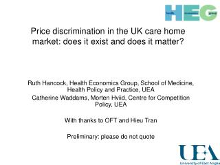 Price discrimination in the UK care home market: does it exist and does it matter?