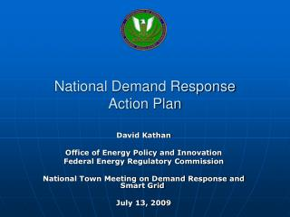 National Demand Response  Action Plan