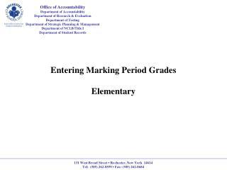 Entering Marking Period Grades Elementary