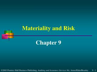 Materiality and Risk
