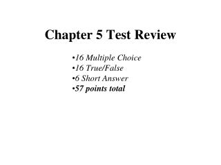Chapter 5 Test Review