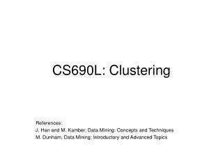 CS690L: Clustering