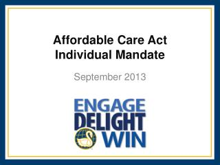 Affordable Care Act Individual Mandate